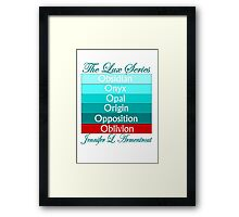 The Lux Series Spines Framed Print