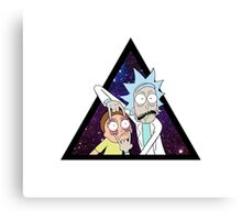 Rick and morty space V2. Canvas Print