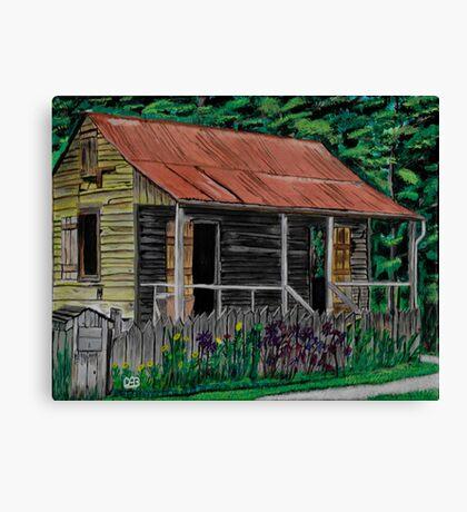 Little Cabins Canvas Print