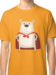 Cute Cartoon Bear Super Hero Classic T-Shirt