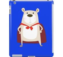 Cute Cartoon Bear Super Hero iPad Case/Skin