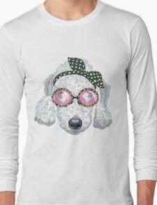 Hipster dog Bedlington Terrier Long Sleeve T-Shirt