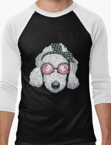 Hipster dog Bedlington Terrier Men's Baseball ¾ T-Shirt
