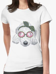 Hipster dog Bedlington Terrier Womens Fitted T-Shirt