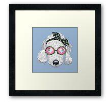 Hipster dog Bedlington Terrier Framed Print