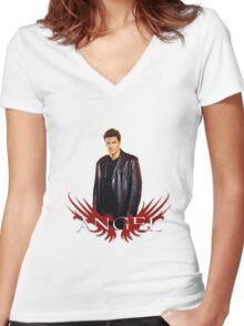 Angel Women's Fitted V-Neck T-Shirt