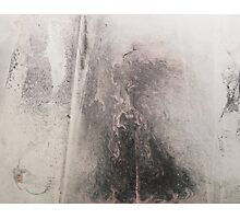 Abstract - Ink and pigments on Chinese paper Photographic Print