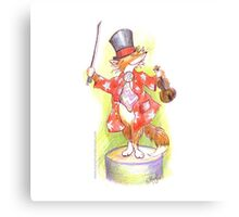 Fantastic Mr Foxy on the violin Canvas Print