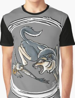 Wolf vs. Falcon Graphic T-Shirt