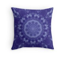 Blue Mandala 2 Throw Pillow