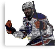 """Edmonton Oilers """"My Favorite Color is (Patrick) Maroon"""" Metal Print"""