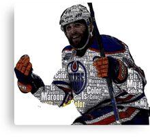 "Edmonton Oilers ""My Favorite Color is (Patrick) Maroon"" Canvas Print"