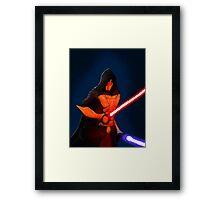 Sci Fi Dark warrior Framed Print