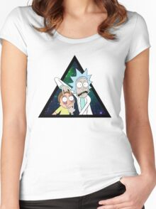 Rick and morty space V4. Women's Fitted Scoop T-Shirt
