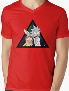 Rick and morty space V4. Mens V-Neck T-Shirt