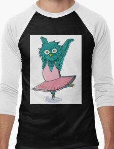 Owl ballet Men's Baseball ¾ T-Shirt