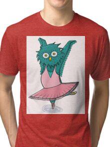 Owl ballet Tri-blend T-Shirt
