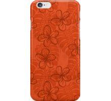 The Garden's Edge - Deep Coral iPhone Case/Skin