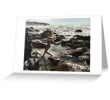 Girl on the Rocks Greeting Card