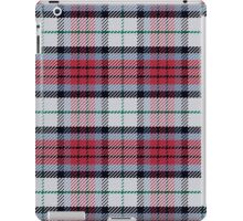 Scottish tartan black, red and green iPad Case/Skin