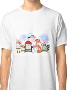 Silly Cartoon Animals Christmas Holiday Classic T-Shirt