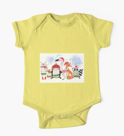 Silly Cartoon Animals Christmas Holiday One Piece - Short Sleeve