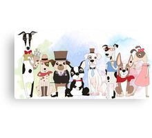 Silly Dogs Cartoon Pets  Canvas Print