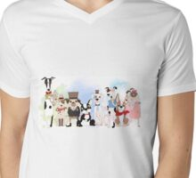 Silly Dogs Cartoon Pets  Mens V-Neck T-Shirt