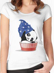 Panda America Cupcake  Women's Fitted Scoop T-Shirt