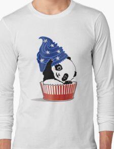 Panda America Cupcake  Long Sleeve T-Shirt