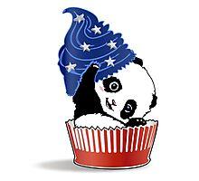 Panda America Cupcake  Photographic Print