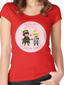 Seraph of the End - Happy Family Women's Fitted Scoop T-Shirt