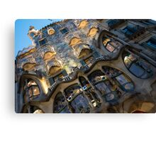 Jewel Toned Masterpiece - Antoni Gaudi's Casa Batllo in Barcelona, Spain Canvas Print