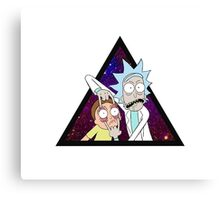 Rick and morty space v6. Canvas Print