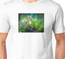 Yellow Butterfly on Pink Blossom Unisex T-Shirt