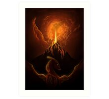 Dragon Born, Volcano Dragon Art Print