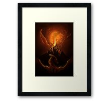 Dragon Born, Volcano Dragon Framed Print
