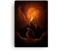 Dragon Born, Volcano Dragon Canvas Print