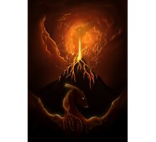 Dragon Born, Volcano Dragon Photographic Print