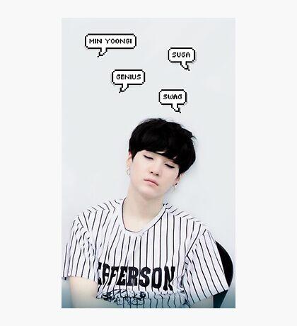 BTS Suga Photographic Print