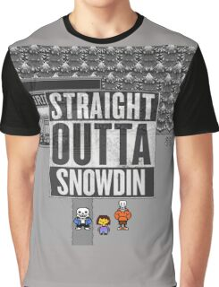 Straight Outta Snowdin - Undertale Graphic T-Shirt
