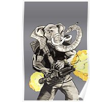 Projectile Pachyderm Poster