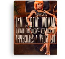 A Real Woman Canvas Print