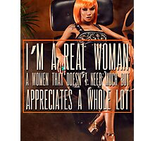 A Real Woman Photographic Print