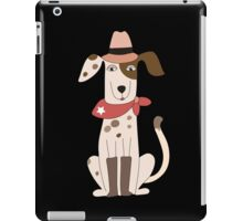 Funny Cartoon Pets Cowboy Dog iPad Case/Skin