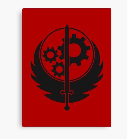 Brotherhood of Steel Emblem (Black) Canvas Print