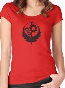 Brotherhood of Steel Emblem (Black) Women's Fitted Scoop T-Shirt