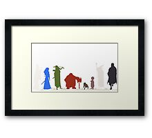 Lord Of The Rings Shilloutte Framed Print