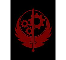 Brotherhood of Steel Emblem (Red) Photographic Print