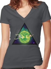 Wormhole!! 4. Women's Fitted V-Neck T-Shirt